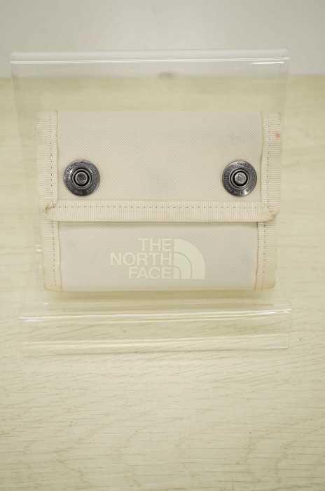 ザノースフェイス THE NORTH FACE 三つ折り財布 メンズ - シルバー系 × 白系 BC Dot Wallet【中古】【ブランド古着バズストア】【200518】
