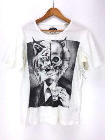 ディーゼル DIESEL クルーネックTシャツ メンズ - グレー系 × 白系 import:M ドクロプリントクルーネックTシャツ【中古】【ブランド古着バズストアBAZZSTORE】【120220】