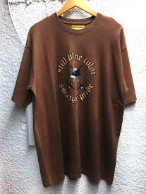 スワッガー SWAGGER クルーネックTシャツ メンズ - 茶系 JPN:XL コットンプリントオーバーサイズTシャツ【中古】【ブランド古着バズストアBAZZSTORE】【260120】