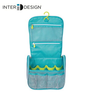 インターデザイン InterDesign トイレタリーバッグ トラベルポーチ 化粧ポーチ 吊り下げ フック付き ハンドル付き 074106