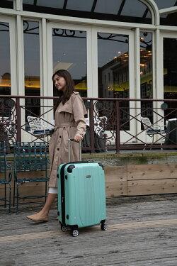 【送料無料1年保証付き】スーツケースキャリーバッグMサイズキャリーバックキャリーケーストランクケーストランクキャリートランク旅行カバン中型ファスナー式TSAロック超軽量大容量