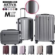 スーツケースキャリーケースキャリーバッグAKTIVAアクティバLサイズWキャスター大型軽量ファスナー開閉