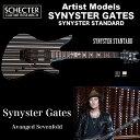 シェクター SCHECTER / Synyster Standard | AD-A7X-SS-STD | Synyster Gates (Avanged Sevenfold) ブラック/シルバーストライプ 送料…