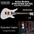 シェクターSCHECTER/SynysterStandard|AD-A7X-SS-STD|SynysterGates(AvangedSevenfold)ブラック/シルバーストライプ送料無料