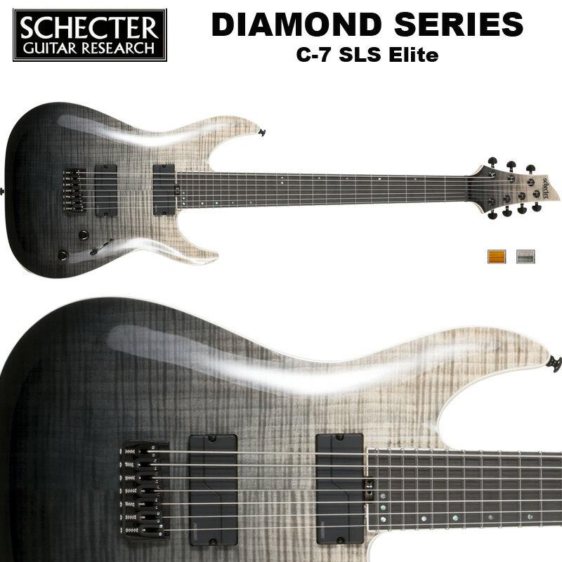 シェクター SCHECTER / C-7 SLS Elite | AD-C-7-SLS-EL | C7 SLSエリート 7弦ギター ブラック フェイド バースト(黒) ダイヤモンドシリーズ 送料無料