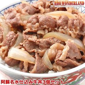 牛丼 牛丼の具 冷凍 食品 小分け セット 肉 阿蘇名水仕込みのつゆだく[牛丼]3個セット