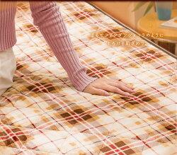 敷きパッド敷パッドダブル節電対策寝具敷きパッドダブルダブル敷きパッド【fondan】フランネル敷きパッド(チェック)ダブルクリアグローブ