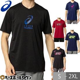 最大2千円オフクーポン Tシャツ・ポロシャツ メンズアパレル アシックス asics グラフィックVネックショートスリーブトップ 2051a250