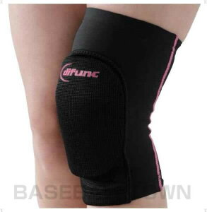 D&M サポーター 膝用 トリコットニーパッド ブラック/ピンク 1ヶ入 パッド厚10mm D808-99 ディーエム DM メール便可