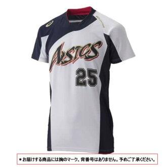 ASICS Baseball Jersey shirt gold stage blade White x Navy BAD101-0150 05P05Sep15