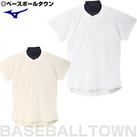最大10%引クーポン ミズノ 野球用品 練習着・ユニフォームシャツ 試合用ユニフォームシャツ セミハーフボタンタイプ メッシュ 12JC5F41 野球ウェア