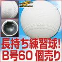 最大10%引クーポン 60個set 耐久性・耐摩耗性を追及!ツルツルになりにくい!上手くなる練習球 軟式練習球B号 60個売り(5ダース) フィールドフォース 野球ボール 軟式球 B球 送料無料 野球
