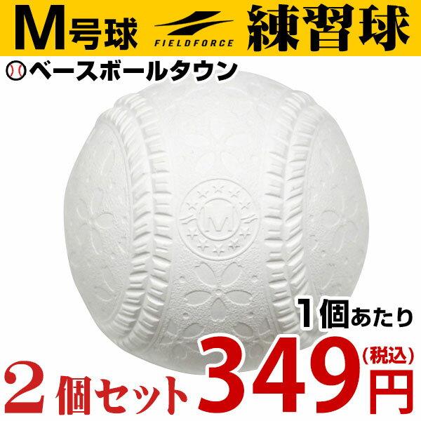 最大14%引クーポン 野球 軟式練習球 M号 2個売り 一般・中学生向け メジャー 練習用 新規格 新軟式球 草野球 軟式ボール FNB-722M フィールドフォース M球 新球