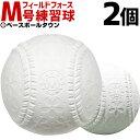 最大4000円引クーポン 野球 軟式練習球 M号 2個売り 一般・中学生向け メジャー 練習用 新規格 新軟式球 草野球 軟式ボール FNB-722M フィールドフォース M球