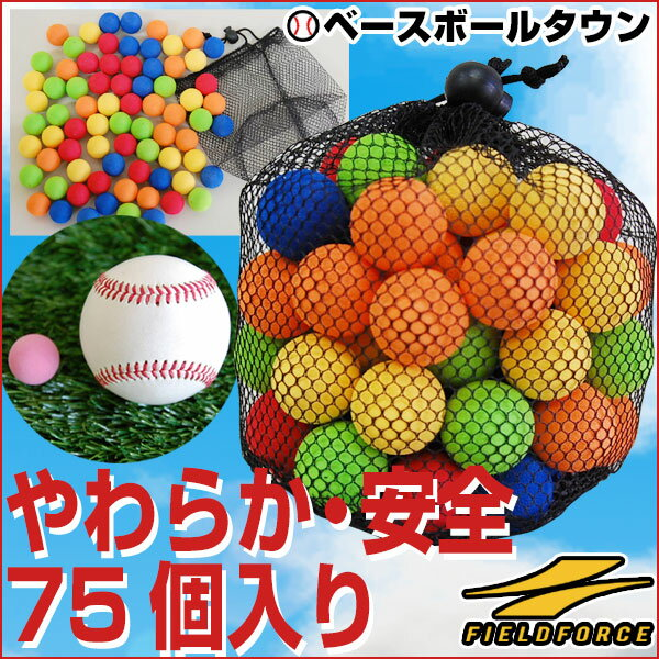 全品7%OFFクーポン 野球 練習 ナノミニボール 5色・75ヶセット 専用収納バック付き 打撃 バッティング FNMB-75 フィールドフォース