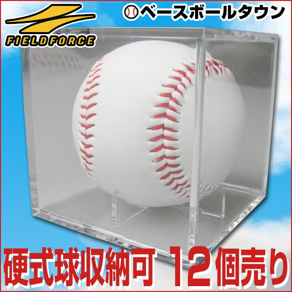 最大14%引クーポン 野球 サインボールケース 12個売り ボール別売り 硬式野球ボール対応 卒団 卒業 記念品 記念グッズ 寄せ書き FSC-8080 フィールドフォース