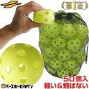 【あす楽】野球 練習 穴あきボール 50個セット 専用バッグ付き 軽い・柔らかい・飛ばない・割れにくい FBB-50 フィー…