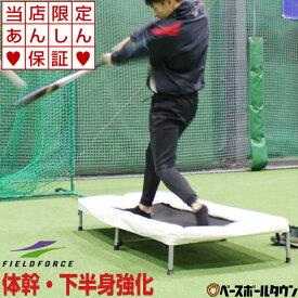 最大10%引クーポン 野球 バッター用トランポリン 打撃練習専用 一般・ジュニア兼用 6ヶ月保証付き 体幹 下半身強化 FBTP-1480 フィールドフォース トレーニング