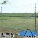 最大10%引クーポン 野球 練習 バックネット 軟式用 M号・J号対応実打撃不可 5×3m 収納バッグ付き 防球ネット グラウ…