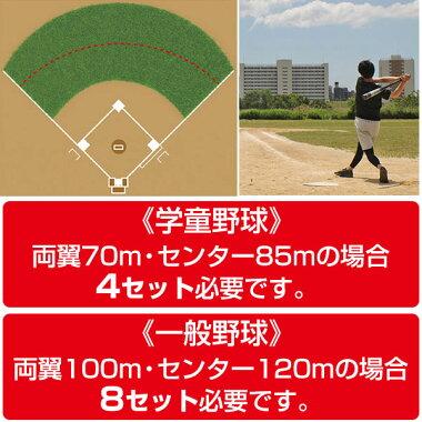 野球練習ホームランフェンスネットセット1m×30m収納バッグ付きグラウンド用品FHFN-1030フィールドフォース