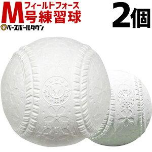 最大10%引クーポン 軟式 M号 野球 軟式練習球 2個売り 一般・中学生向け メジャー 練習用 新規格 新軟式球 草野球 軟式ボール 桜ボール さくらボール FNB-722M フィールドフォース M球 新球 ト
