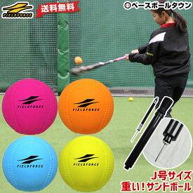 野球 練習 ハンドポンプおまけ 4個セット アイアンサンドボール 軟式J号サイズ 4色 約200g 打撃 バッティング WFIMP-680 フィールドフォース