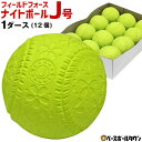 2点で300円OFFクーポン フィールドフォース ナイトボールJ号 練習球 1ダース売り 軟式野球ボール 小学生向け ジュニア…