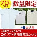 ワケアリ/70%OFF ミズノ 練習用・試合用ユニフォーム シャツ・オープンタイプ P5R 半額以下