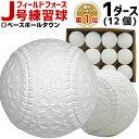 2点で300円OFFクーポン フィールドフォース J号練習球 1ダース売り 軟式野球ボール 小学生向け ジュニア 練習用 練習…