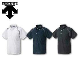 20%OFF 最大10%引クーポン デサント ボタンダウンポロシャツ DESCENTE 野球 取寄 DTM-4600 野球ウェア