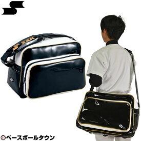 最大10%引クーポン バッグ刺繍可(有料) SSK ショルダーバッグ ブラック×ゴールド BA8000
