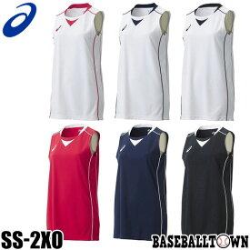 最大10%引クーポン アシックス バスケットボール ウイメンズゲームシャツ レディース 女性用 XB2355 ノースリーブ メール便可