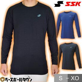 SSK アンダーシャツ 裏起毛 大人 長袖 SCβ蓄熱やわらかローネック 防寒 保温 吸汗速乾 BUE2115LL 野球ウェア メール便可