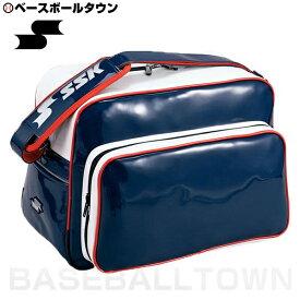 最大10%引クーポン バッグ刺繍可(有料) SSK ショルダーバッグ ネイビー×ホワイト×レッド BA8000