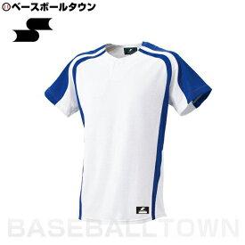 20%OFF 最大10%引クーポン SSK 野球 1ボタンプレゲームシャツ ホワイト×Dブルー BW0906-1063 野球ウェア