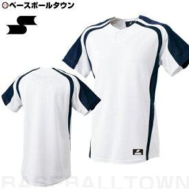 20%OFF 最大10%引クーポン SSK 野球 1ボタンプレゲームシャツ ホワイト×ネイビー BW0906-1070 野球ウェア