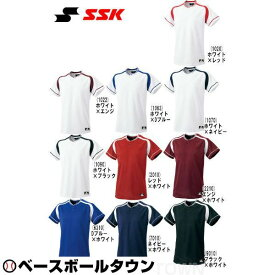 20%OFF 最大10%引クーポン SSK 野球 練習着・ユニフォーム ジュニア・2ボタンプレゲームシャツ BW2200J 少年用 受注生産 野球ウェア