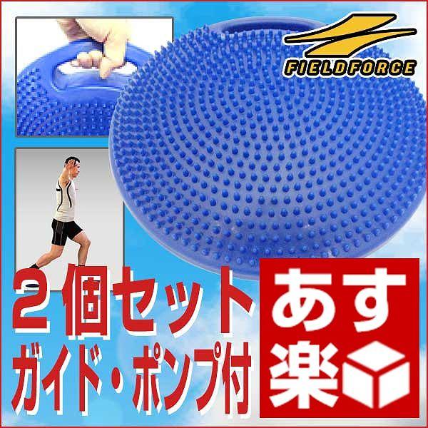 野球 練習 バランスディスク 2個セット トレーニングガイド・ハンドポンプ付きトレーニング用品 サッカー フットサル バスケットボール フィジカル 体幹 FBD-3201 フィールドフォース