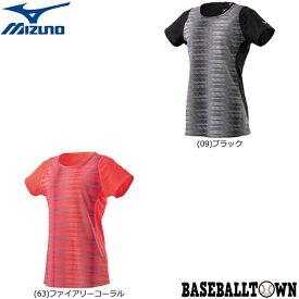 最大10%引クーポン ミズノ ドライエアロフローTシャツ レディース J2MA9211 ランニング ウエア ランニングシャツ