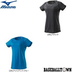 最大10%引クーポン ミズノ ソーラーカットTシャツ レディース J2MA9214 ランニング ウエア ランニングシャツ