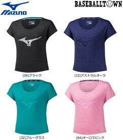 最大10%引クーポン ミズノ ランニンググラフィックTシャツ レディース J2MA9733 ランニング ウエア ランニングシャツ