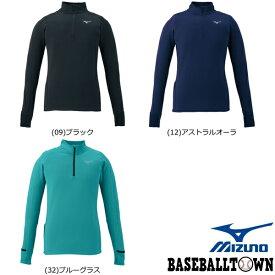 最大10%引クーポン ミズノ ストレッチフリースシャツ レディース J2MC9711 ランニング ウエア ランニングシャツ