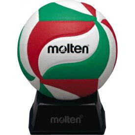 最大10%引クーポン バレーボール モルテン サインボール 置台付 白×赤×緑 直径約15cm V1M500 取寄
