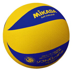 ミカサ カラーソフトバレーボール 小学校1〜6年生用 黄/青 MS-M64H