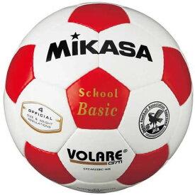最大10%引クーポン ミカサ サッカーボール4号球 検定球 白/赤 SVC402SBC-WR