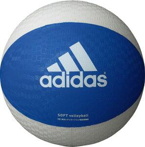 最大10%引クーポン アディダス ソフトバレーボール 青×白 AVSBW