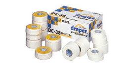テーピング テープ ドレイパー DCテープコットンテープ 非伸縮性 幅38mm 1巻 DC38 D&M ディーエム
