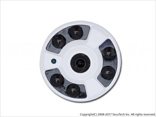 防犯カメラ・監視カメラ【CT-AHD610】220万画素フルHD屋内用全方位撮影・パノラマ赤外線暗視AHDカメラ(f=2.3mm)【RCP】