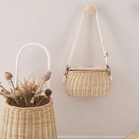 【送料無料】オリエラ Olli Ella ミニチャリバッグ Mini Chari Bag ( ナチュラル / ストロー/ ホワイト )