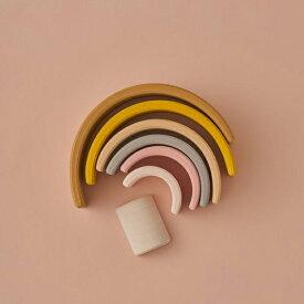 アーチレインボー 木のおもちゃ 積み木 Raduga Grez レインボースタッキングトイ レインボーアーチ レインボートイ (S) 木のおもちゃ 木製 知育玩具
